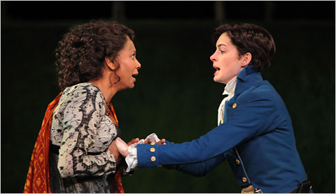 Audra McDonald and Anne Hathaway in 2009's Twelfth Night