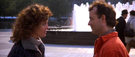 Peter Venkman and Dana Barrett outside of Lincoln Center on Columbus Ave