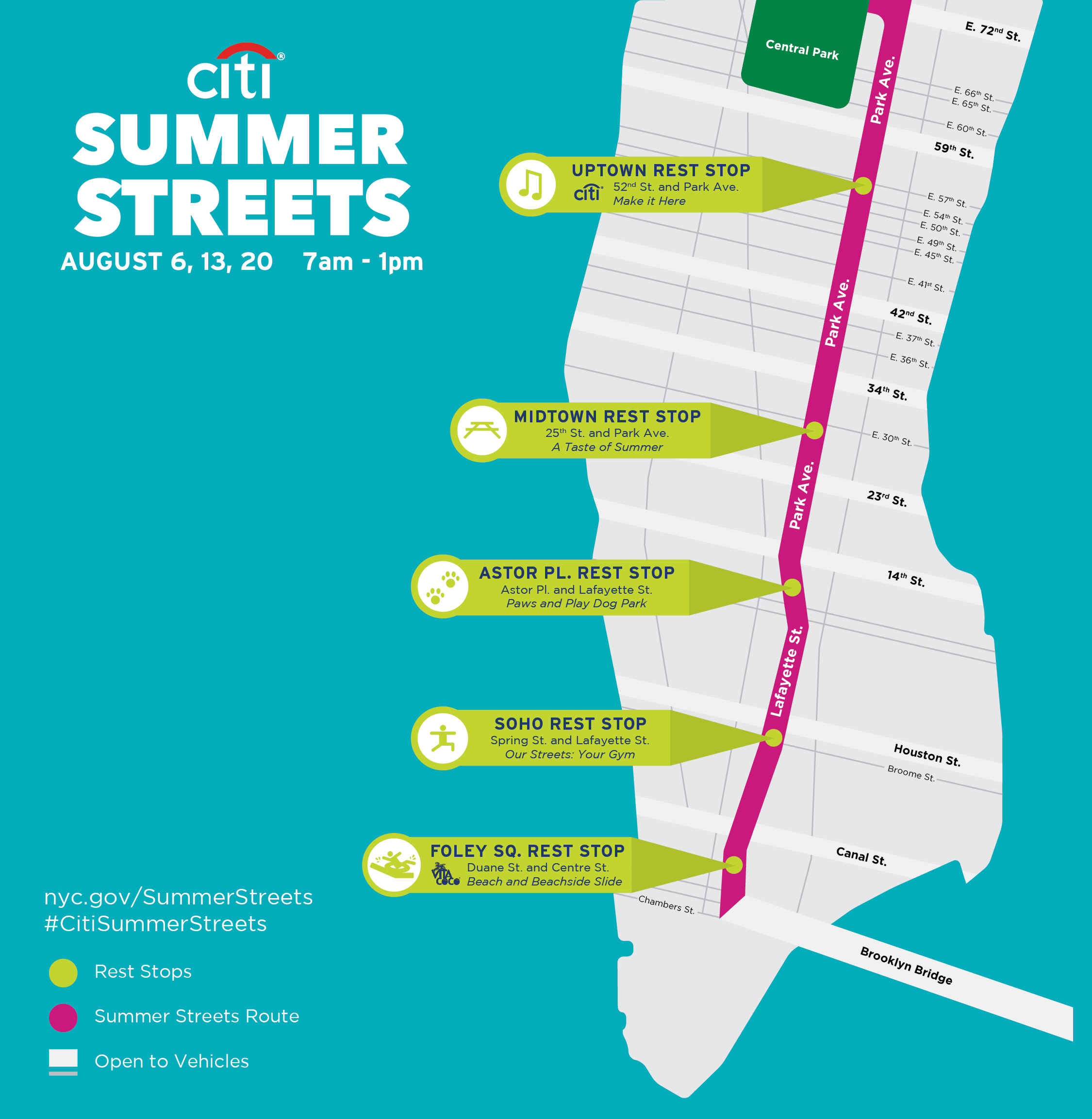 New York Summer Streets map
