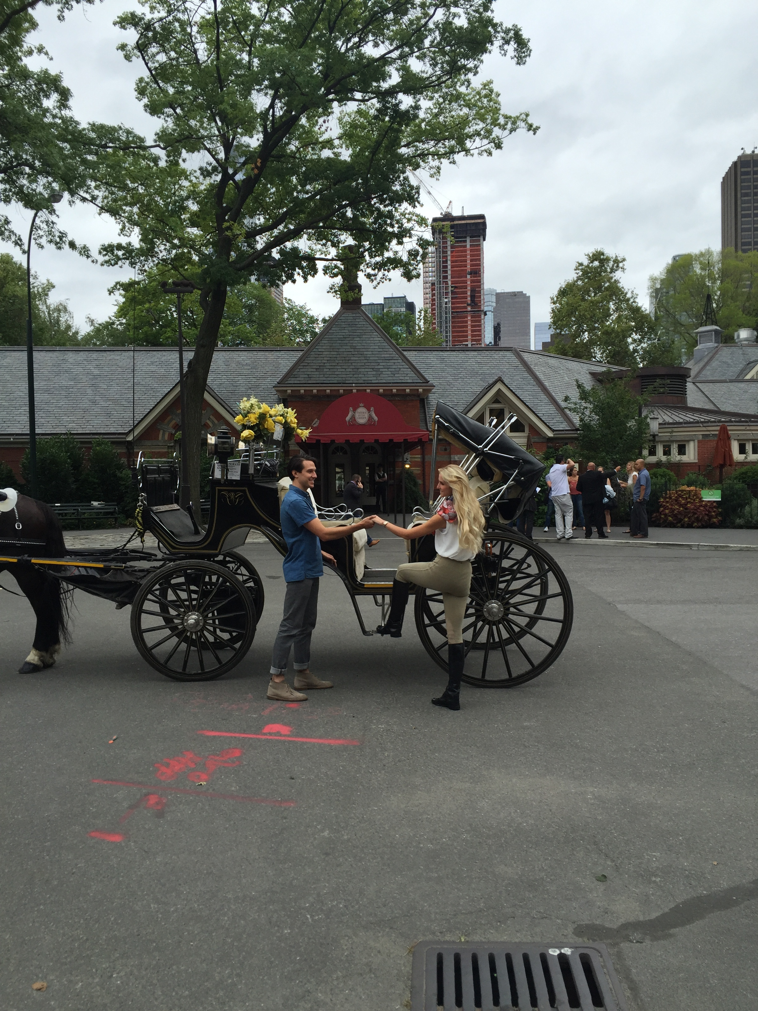 Ride in a horse drawn carriage in Center Park