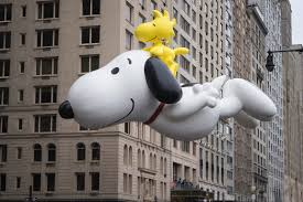 Snoopy balloons at Macy's Thanksgiving Day Parade
