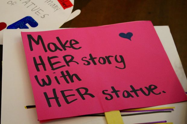 Make her story with her statue