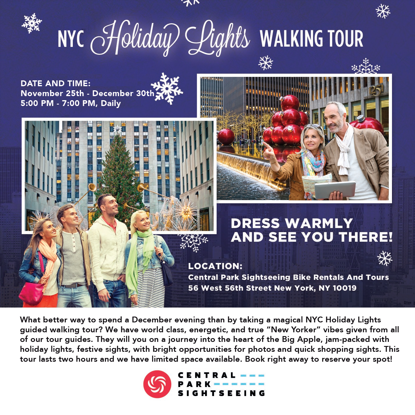 NYC Holiday Lights Walking Tour